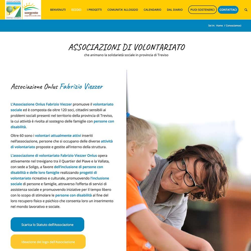 sito per associazione di volontariato