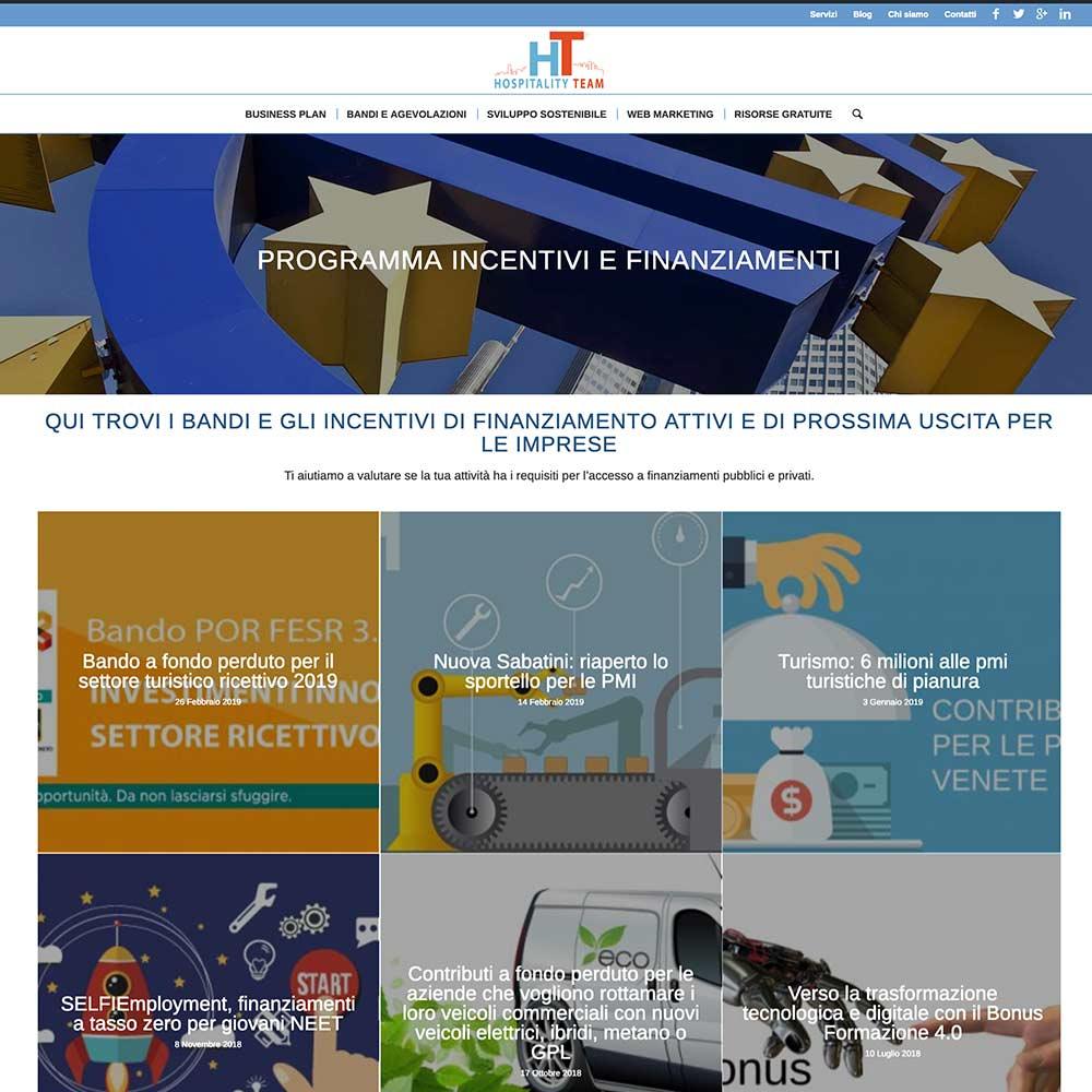 sito web per hospitality team