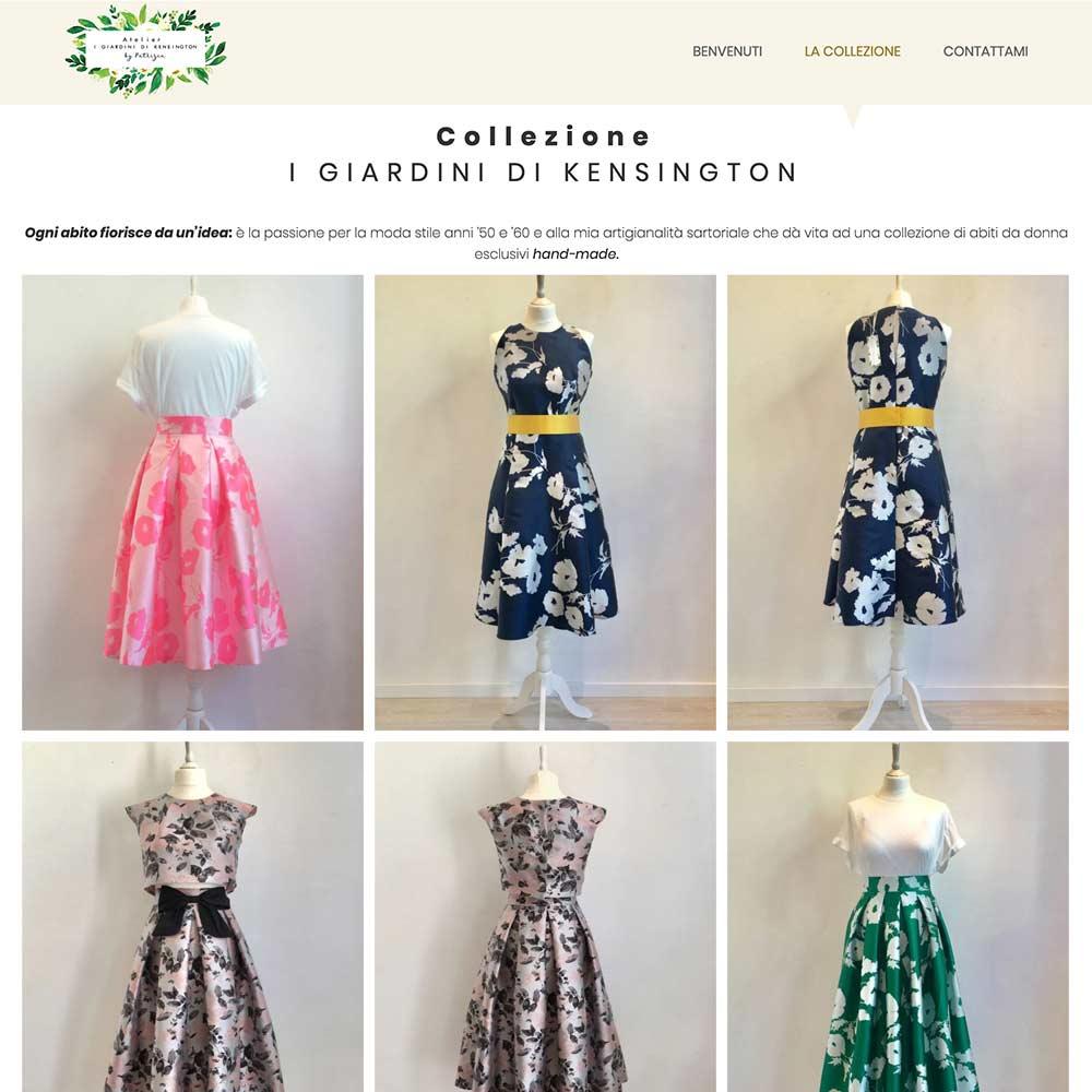 sito web per atelier alta moda a treviso