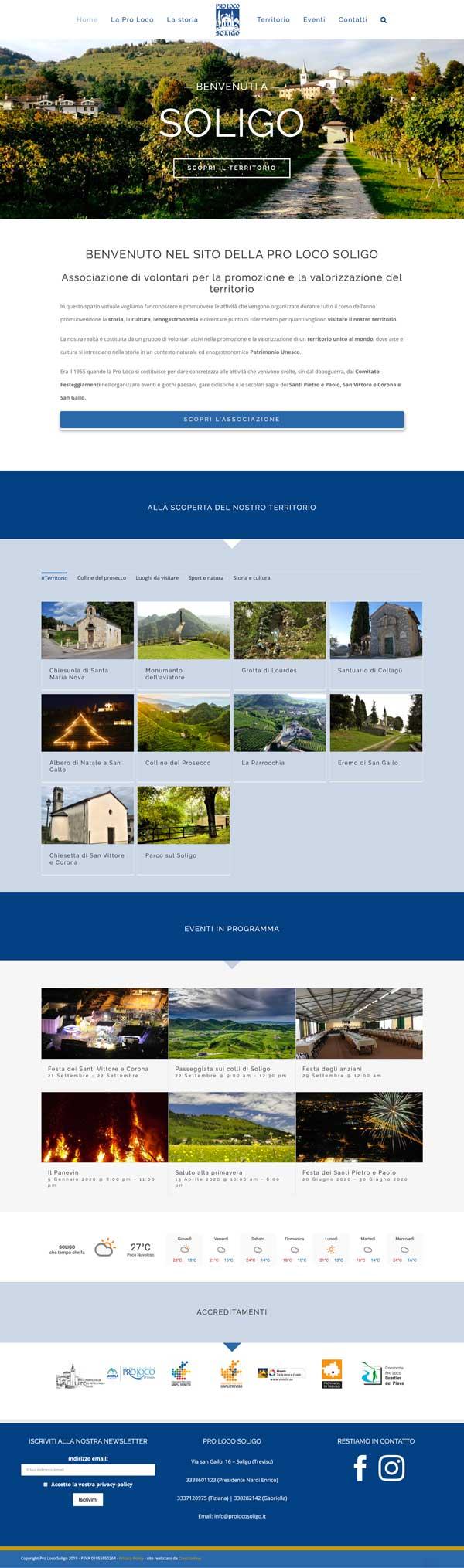 sito web per pro loco