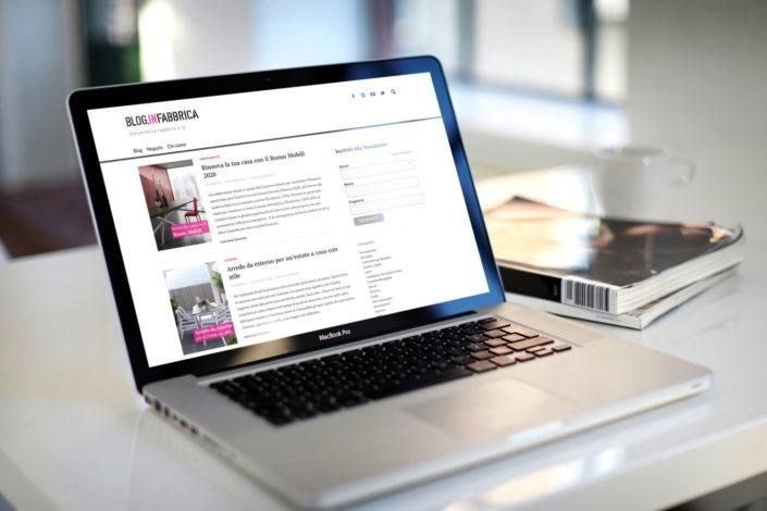 sito web portfolio infabbrica