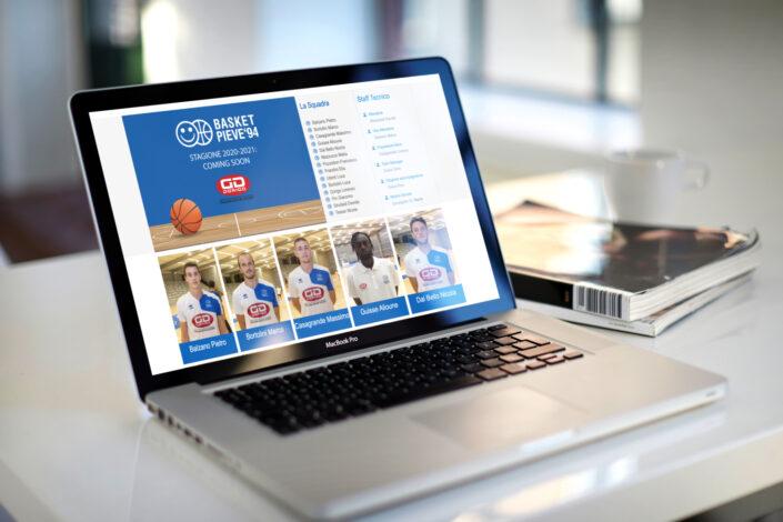 nuovo sito per basket pieve